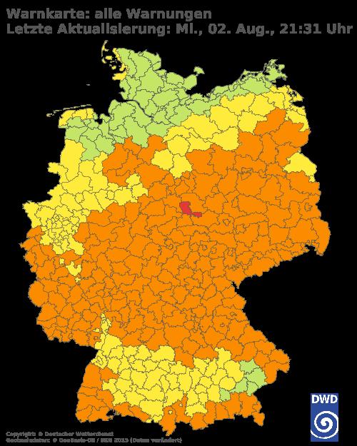 Aktuelle Wetterwarnungen für Göttingen